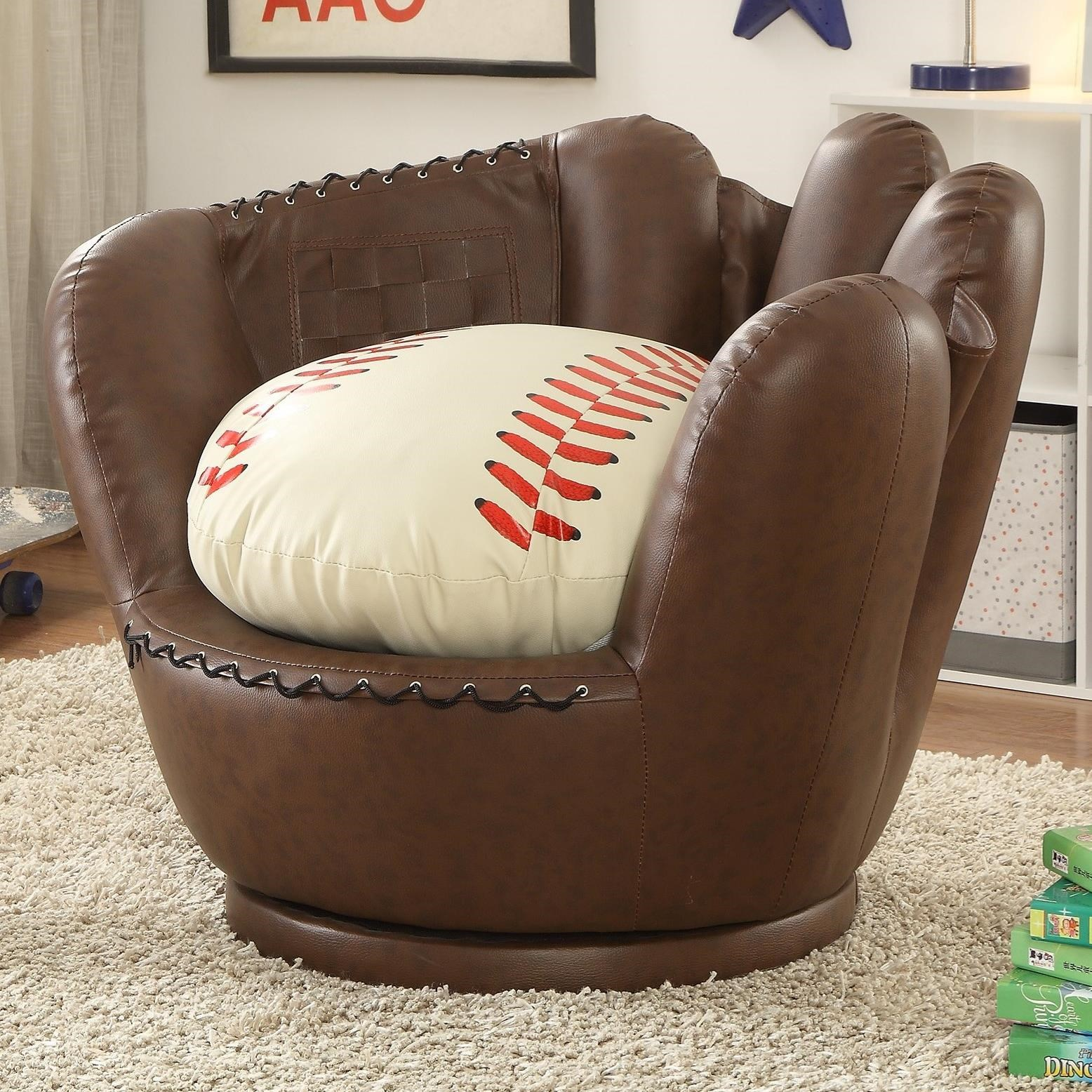 7006 Baseball Glove Chair by Crown Mark at Corner Furniture