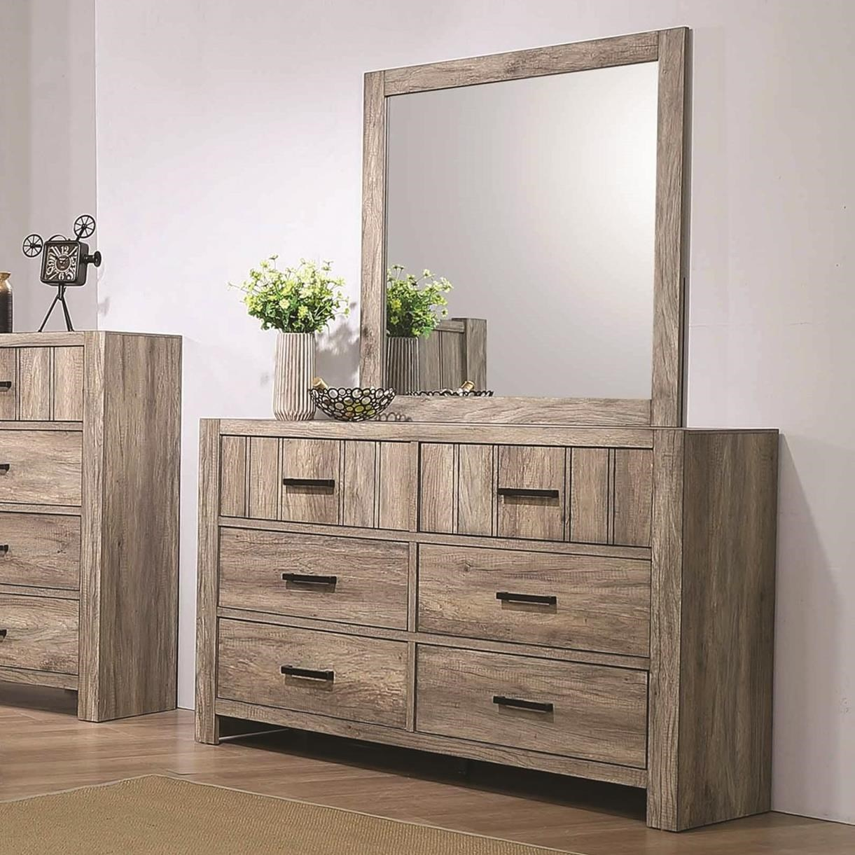 Abbot Dresser and Mirror by Crown Mark at Dream Home Interiors