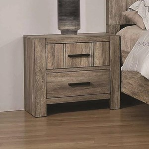 Contemporary 2- Drawer Nightstand