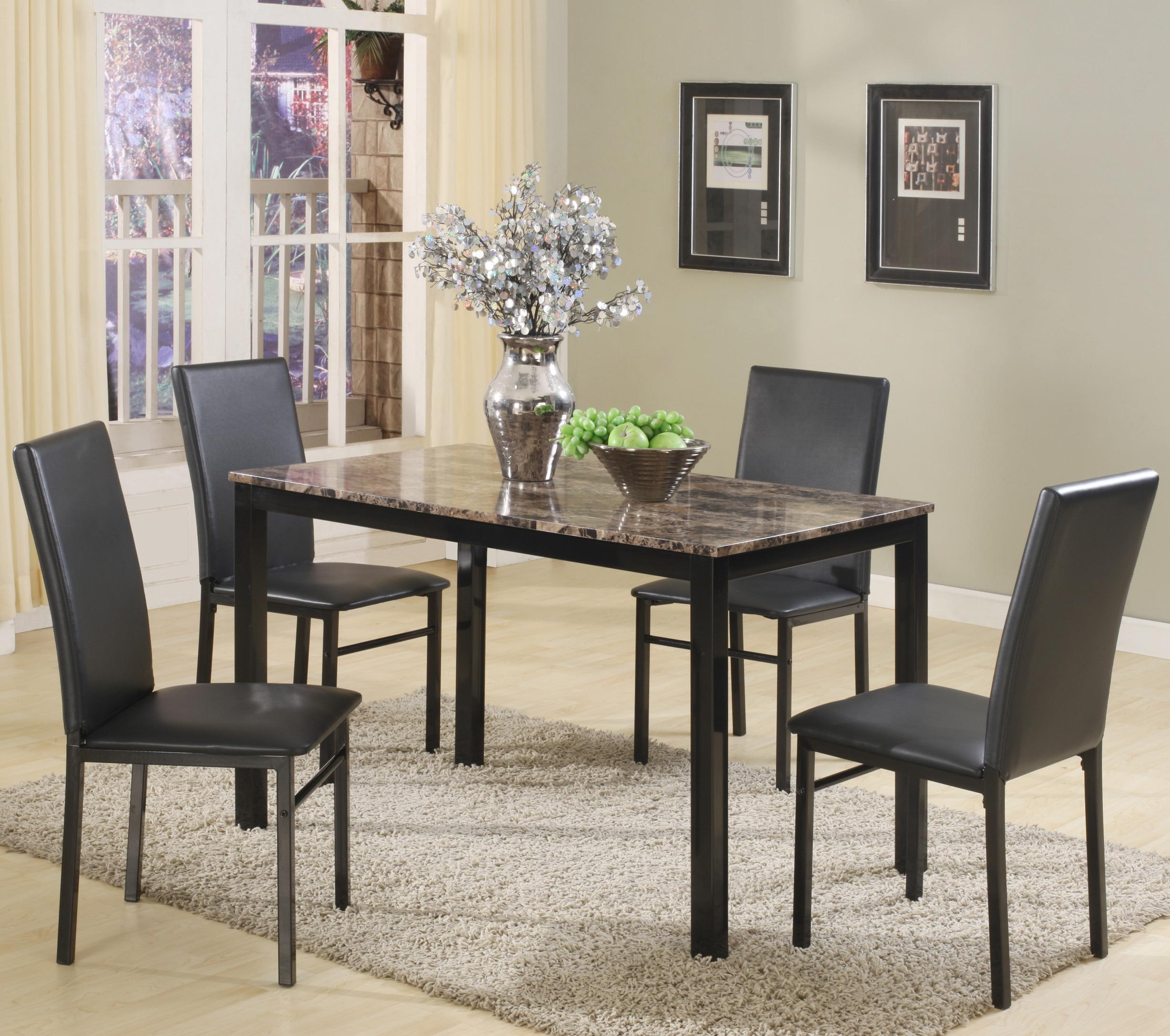 Aiden 5 Piece Dining Set by Crown Mark at Northeast Factory Direct