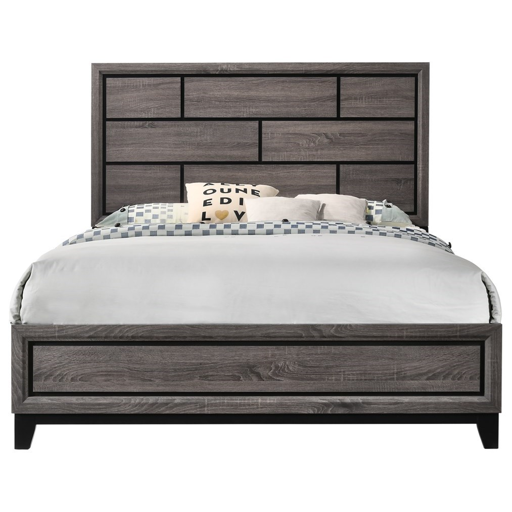Akerson Queen Platform Bed by Crown Mark at Wilcox Furniture