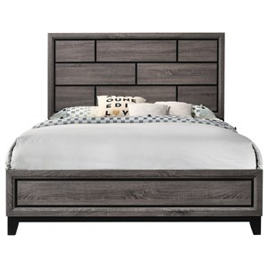 Contemporary Grey Queen Sized Bed