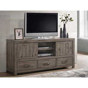 Rustic TV Stand with 3-Drawers