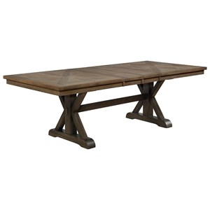 Transitional Dining Table with Removable Leaves