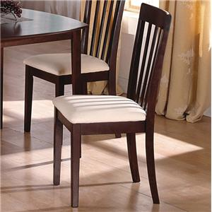 Dining Side Chair with Slatted Back