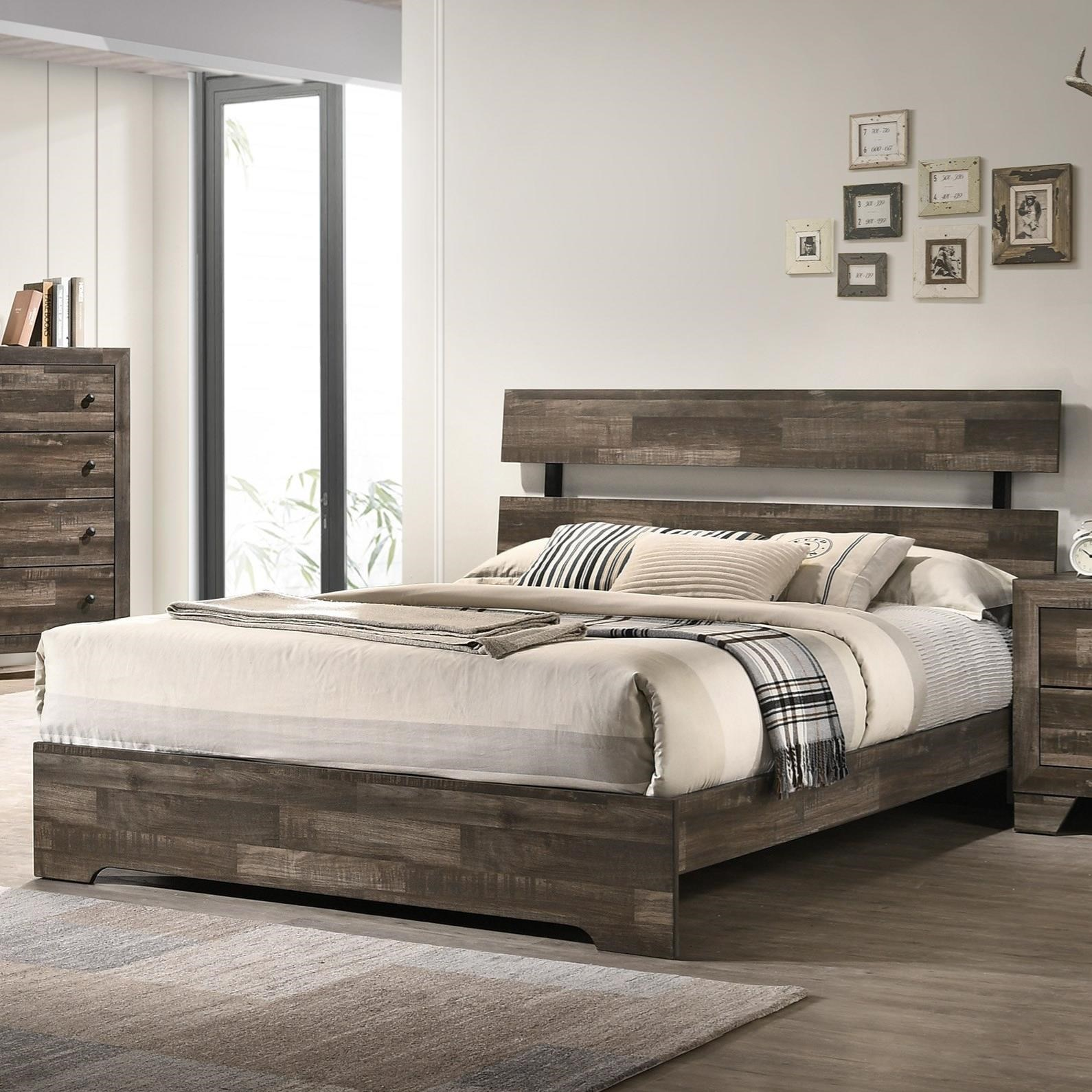 Atticus California King Bed by Crown Mark at Northeast Factory Direct