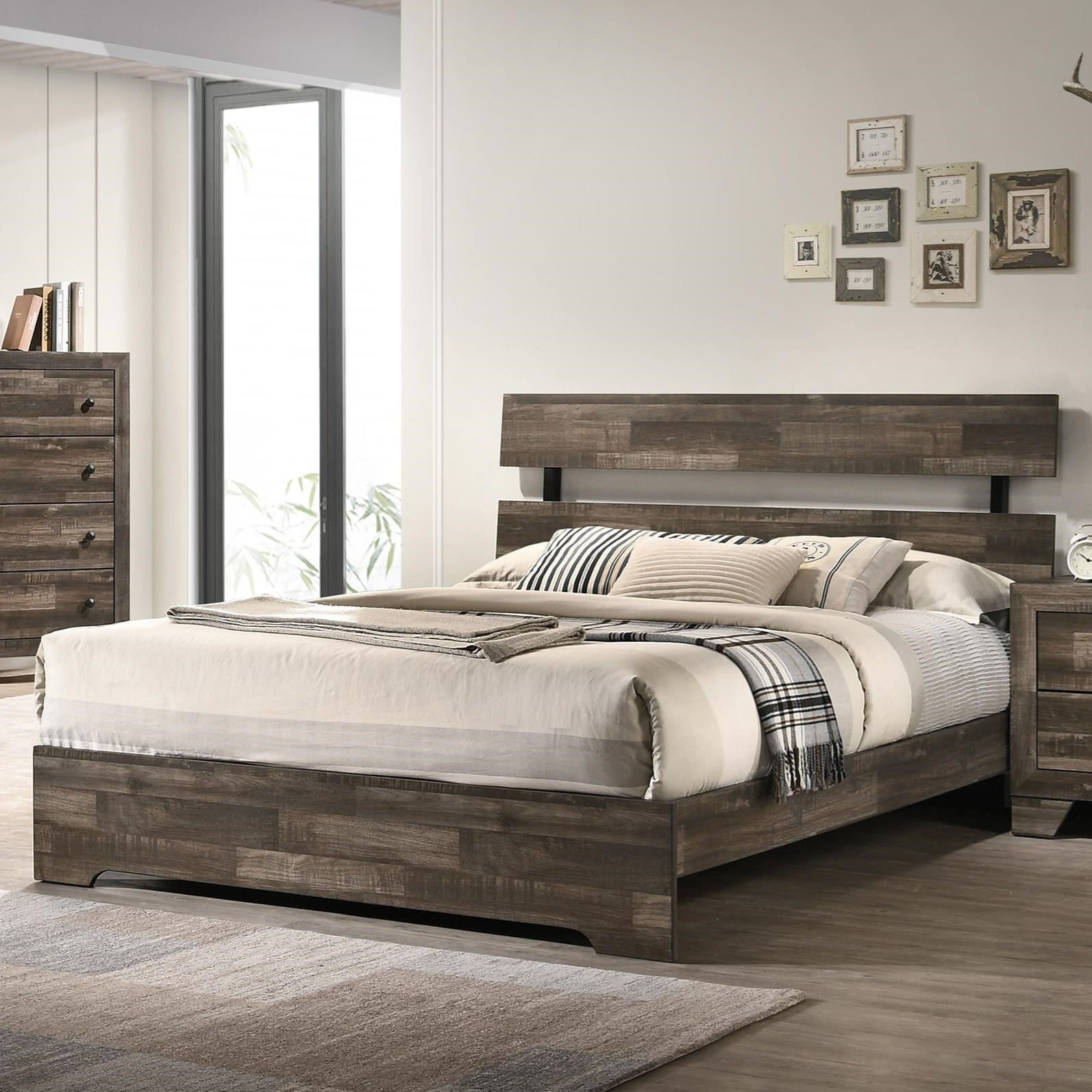 Atticus King Bed by Crown Mark at Darvin Furniture