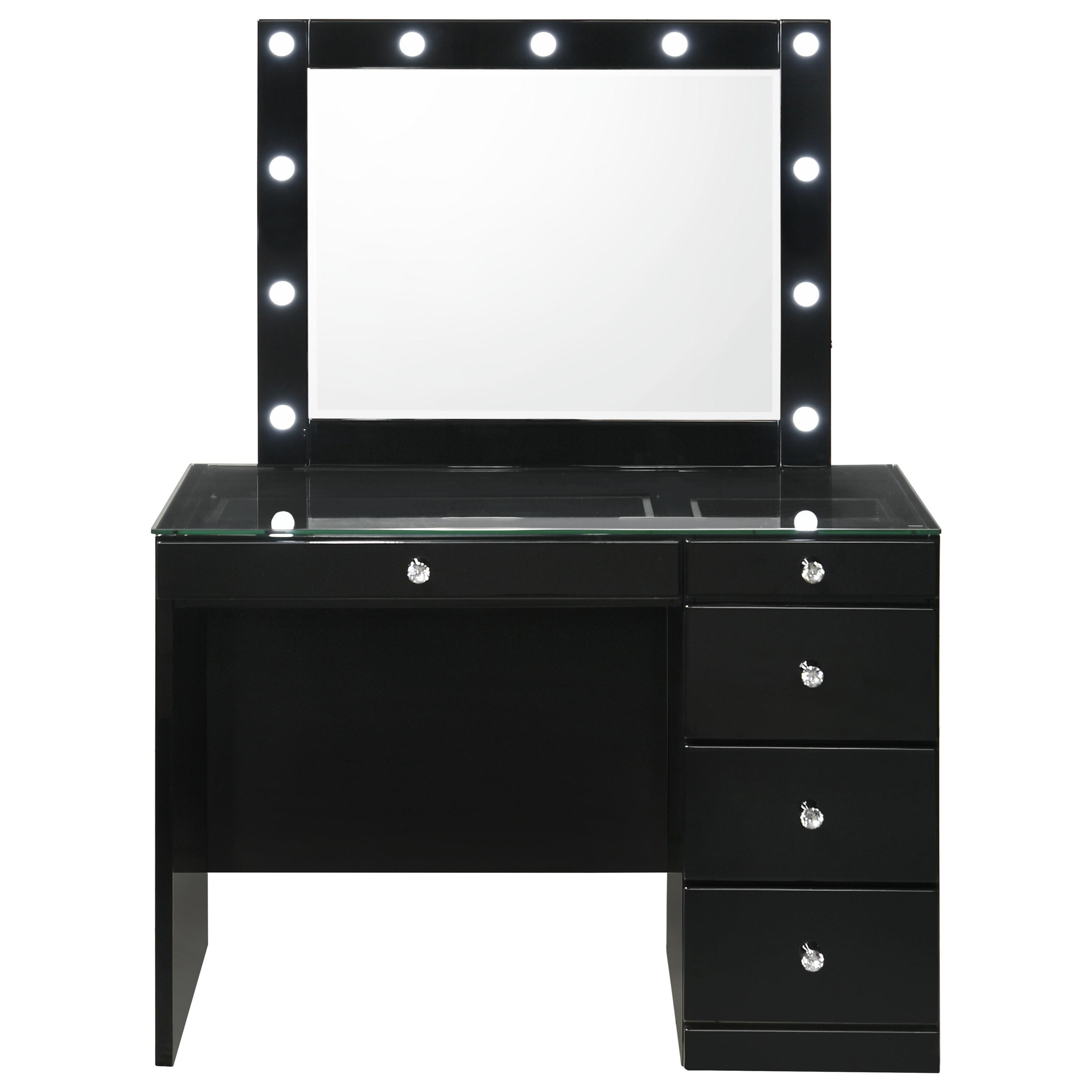 Morgan Vanity and Mirror by Crown Mark at A1 Furniture & Mattress