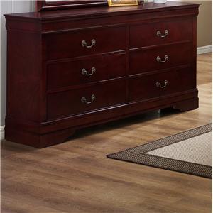 Crown Mark B3800 Louis Phillipe Dresser