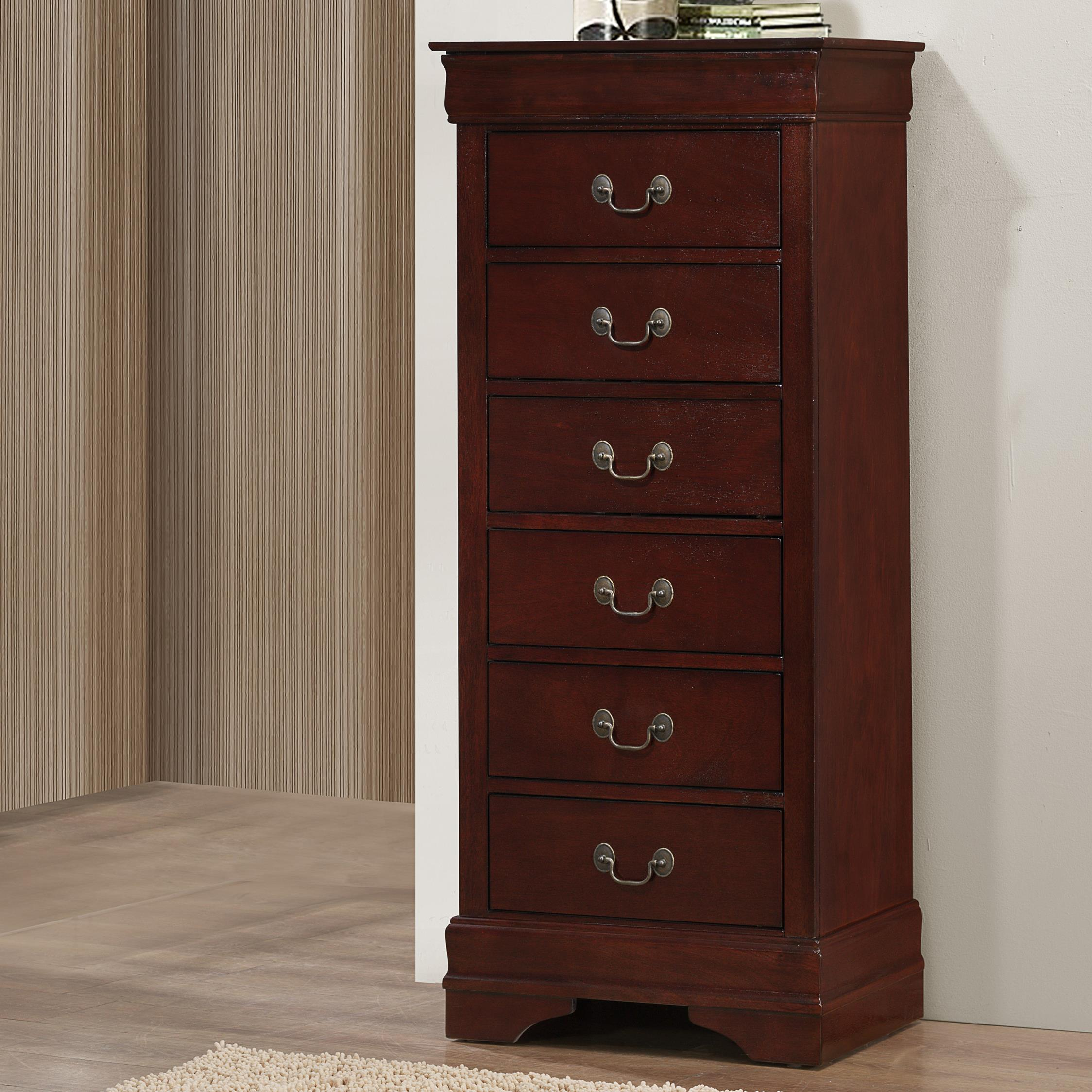 B3800 Louis Phillipe Lingerie Chest by Crown Mark Furniture at Del Sol Furniture