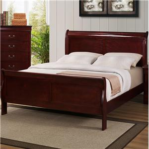 Twin Sleigh Bed with Raised Panels