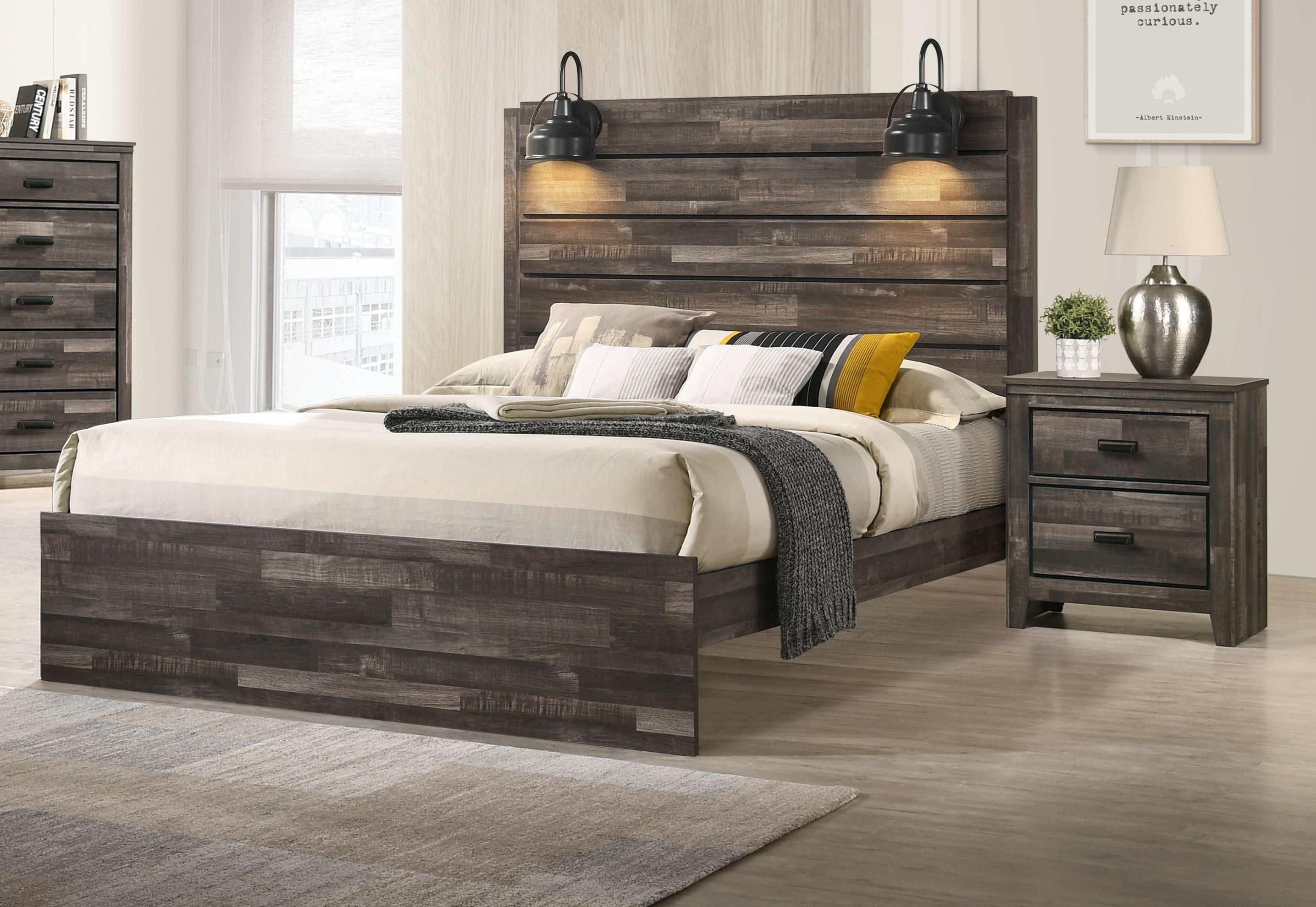 B6800 CARTER King Size Lighted Bed by Crown Mark at Furniture Fair - North Carolina