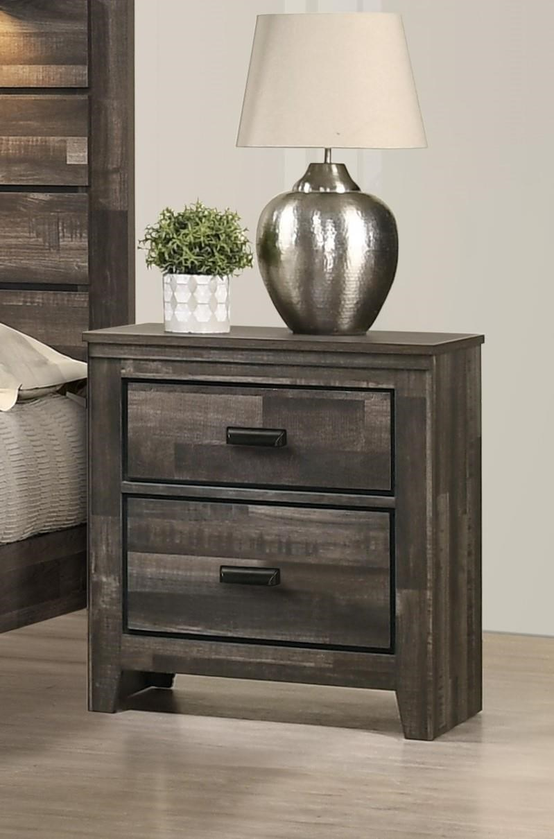 B6800 CARTER Two Drawer Nightstand by Crown Mark at Furniture Fair - North Carolina
