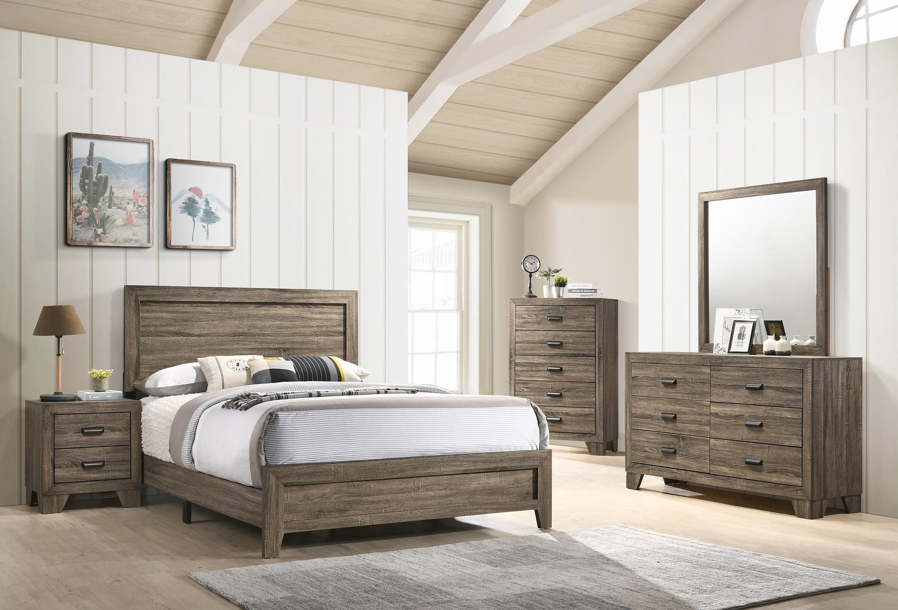 B9200 Full Bed Package by Crown Mark at Sam Levitz Furniture