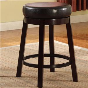 Contemporary Upholstered Counter Height Swivel Stool