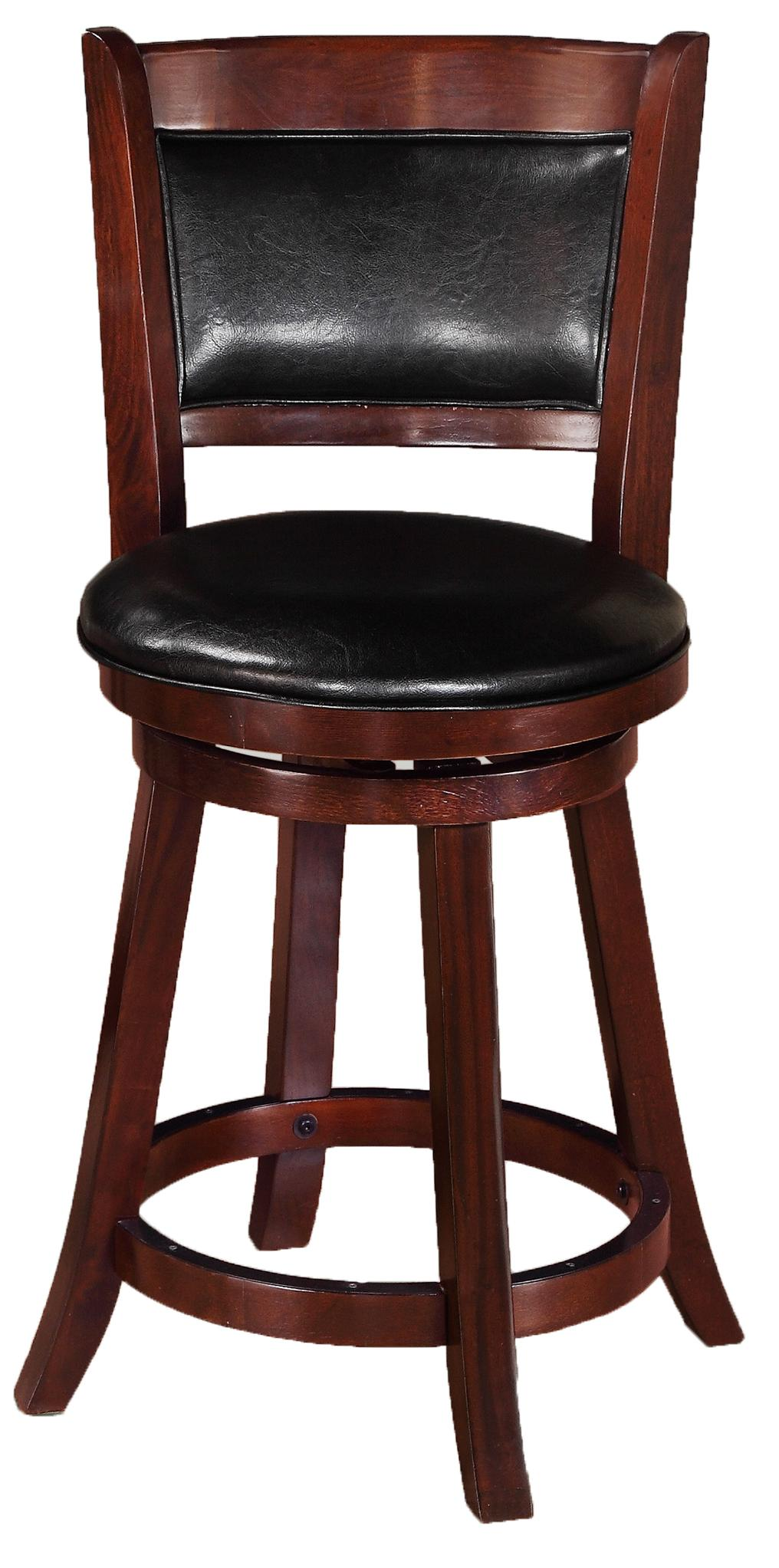 Bar Stools Low Swivel Chair by Crown Mark at Northeast Factory Direct