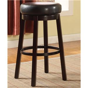 Contemporary Upholstered Bar Height Swivel Stool