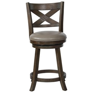 Swivel Counter Height Stool with Upholstered Seat