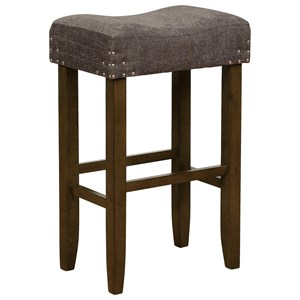Transitional Bar Height Stool