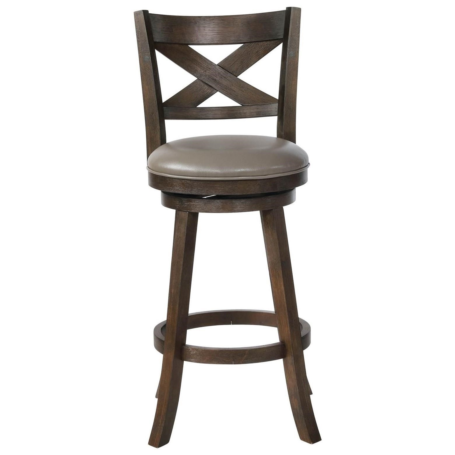Bar Stools CM Swivel Bar Stool by Crown Mark at Northeast Factory Direct