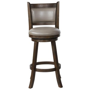 Swivel Bar Stool with Upholstered Seat and Back