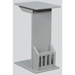 Contemporary Chairside Table with Magazine Rack
