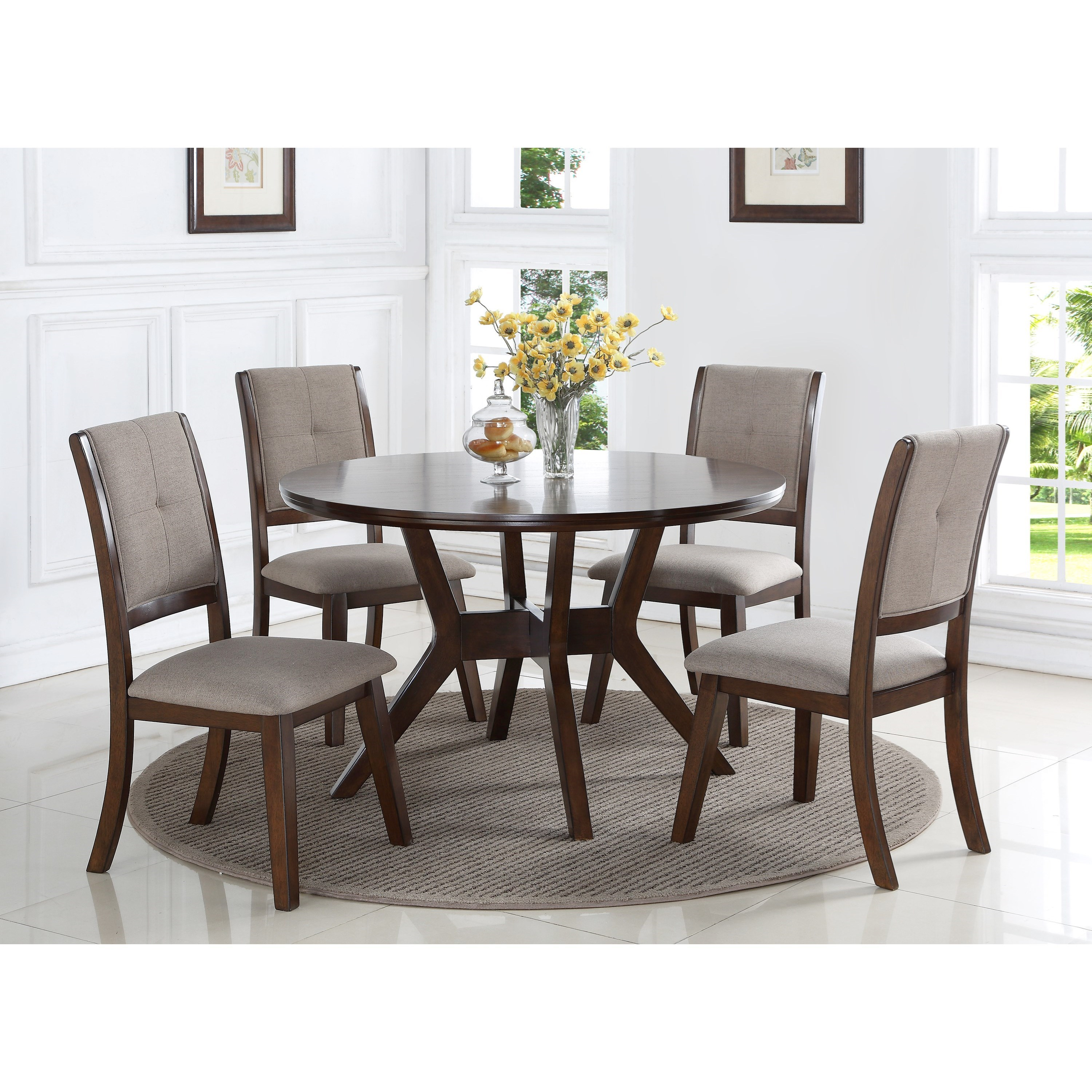 Barney Table and Chair Set by Crown Mark at Northeast Factory Direct
