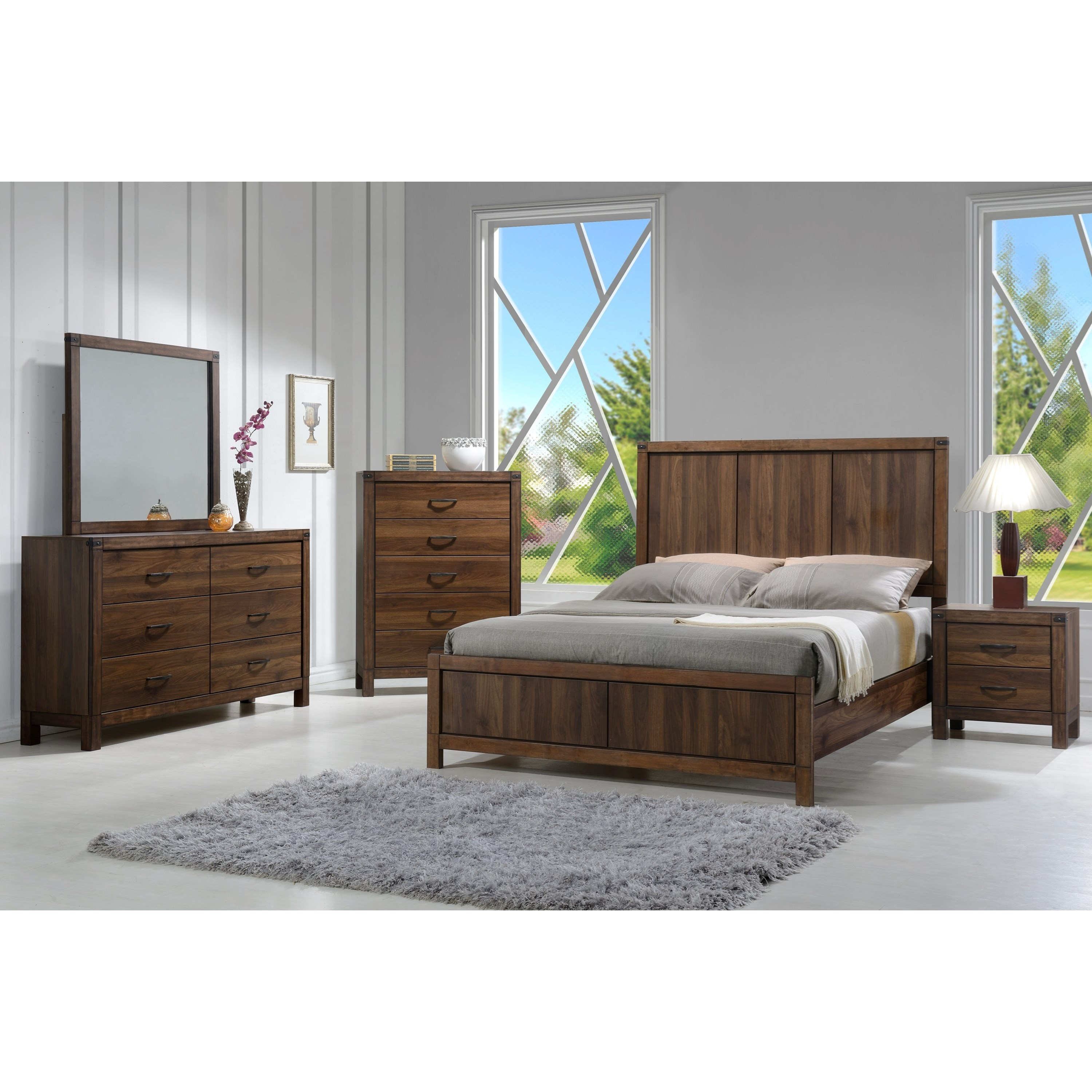 Belmont King Bedroom Group by Crown Mark at Northeast Factory Direct