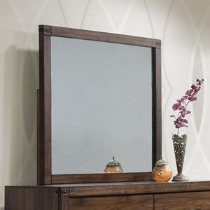 Dresser Mirror with Rustic Metal Accents