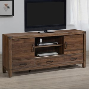 Rustic TV Stand with 3 Drawers and 2 Doors