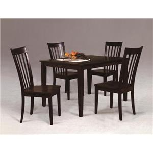 Casual Contemporary Five Piece Dining Set