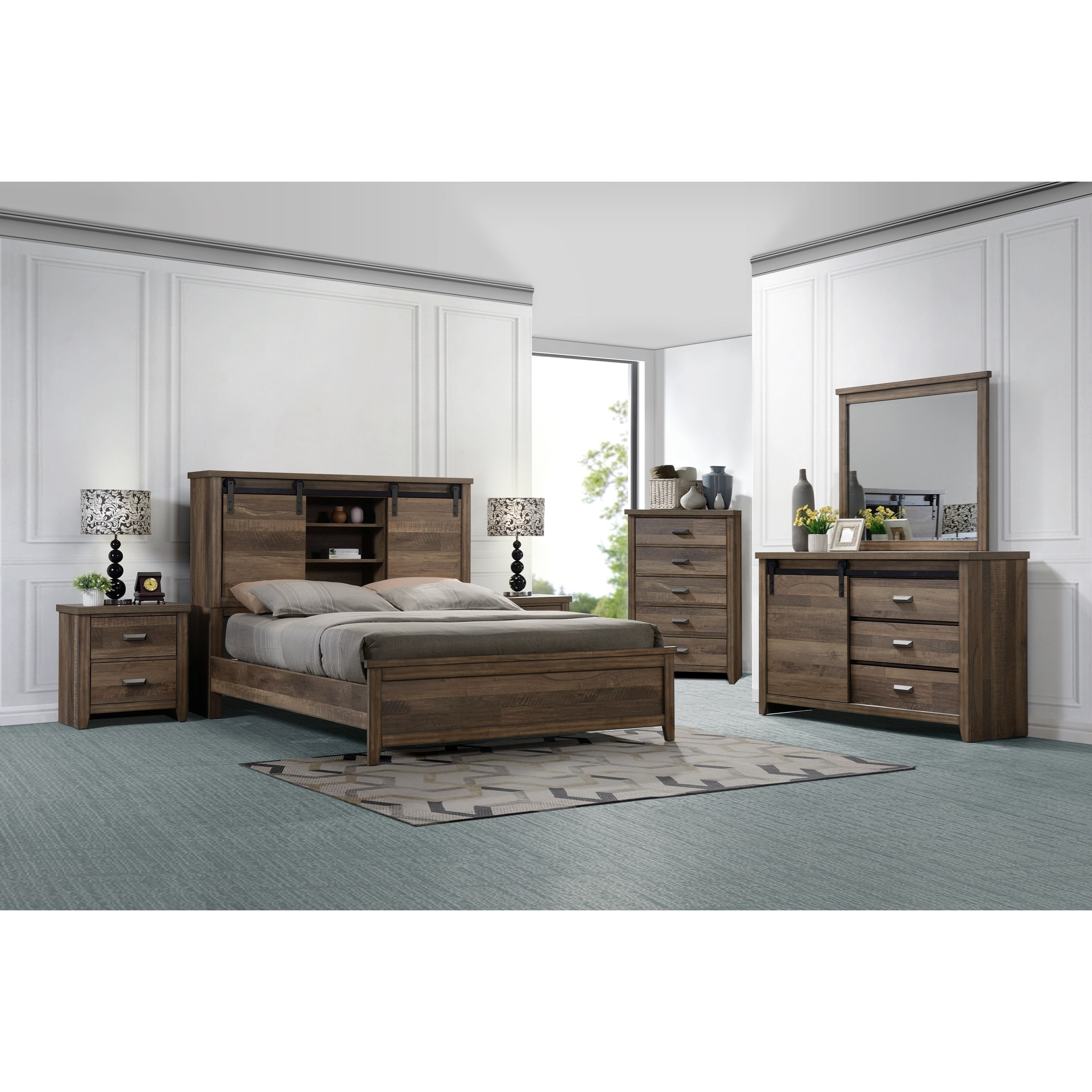 Calhoun Queen Bedroom Group by Crown Mark at Northeast Factory Direct