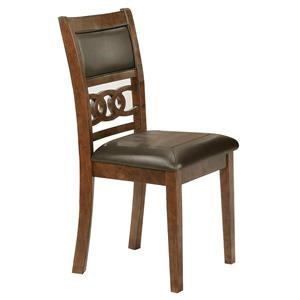 Side Chair with Upholstered Seat and Interlocking Back Design