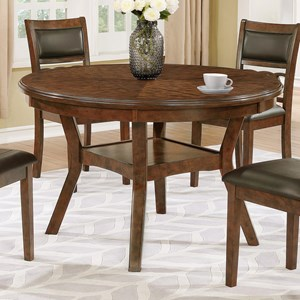 Round Dining Table with Shelf