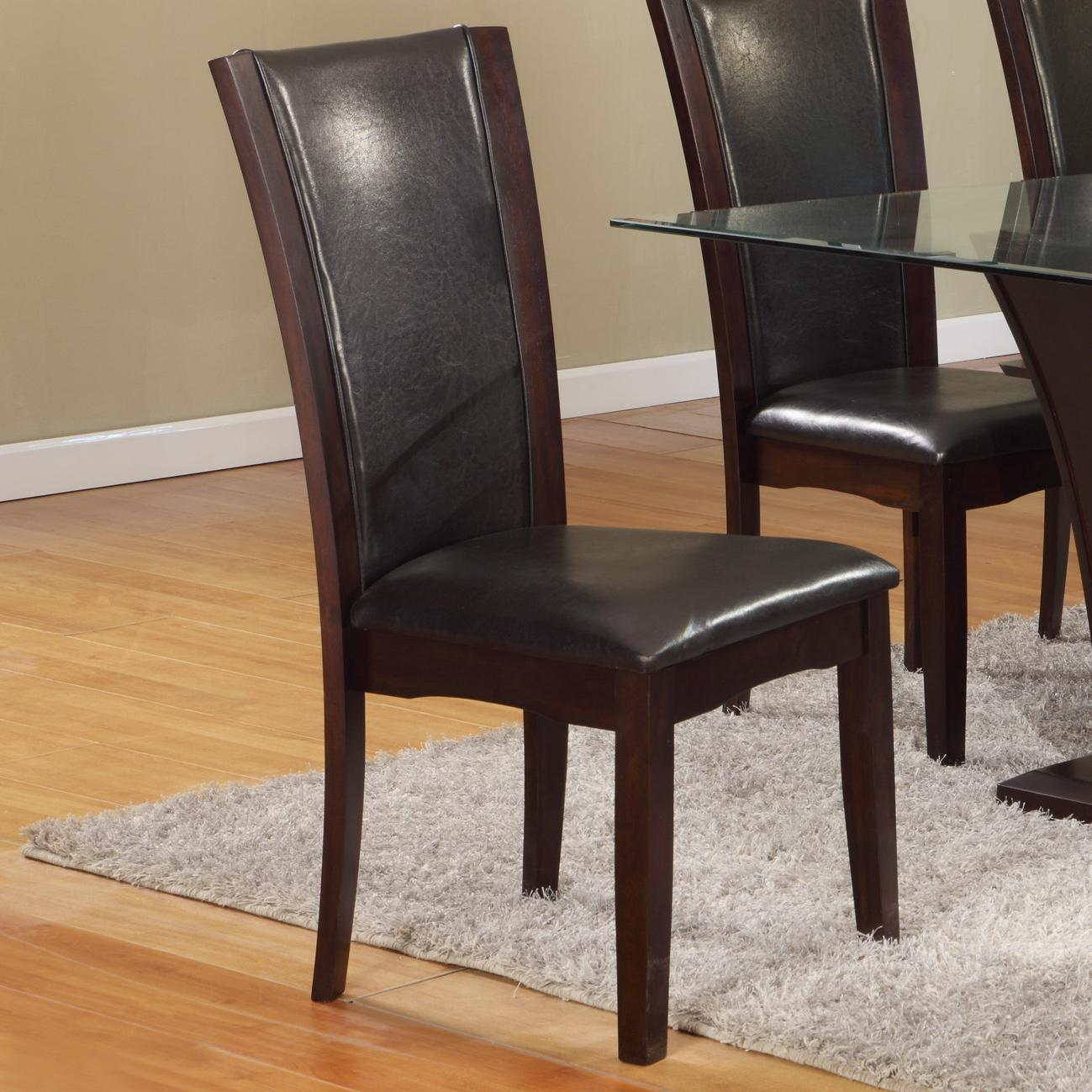 Camelia Espresso Dining Side Chair by Crown Mark at Catalog Outlet