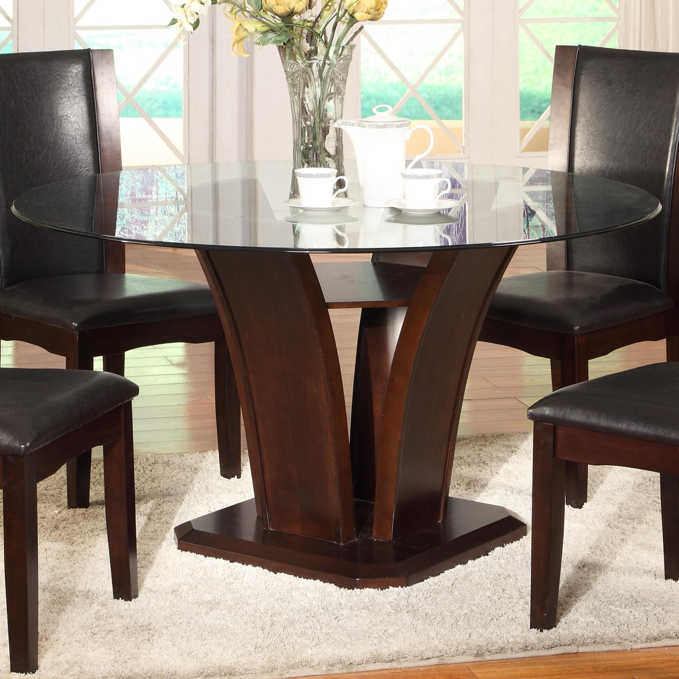 Camelia Espresso Round Dining Table by Crown Mark at Northeast Factory Direct