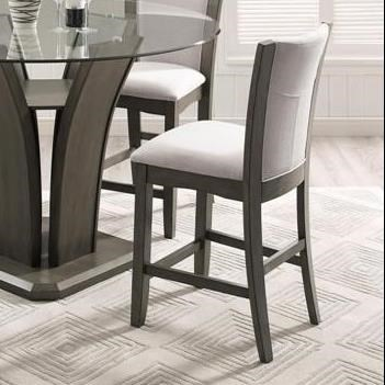 Camelia Grey Counter Height Stool by Crown Mark at Darvin Furniture