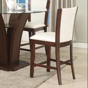 Counter Height Stool with Upholstered Seat