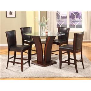 5 Piece Espresso Counter Height Table