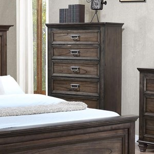 Traditional Chest of Drawers with Modern Finish