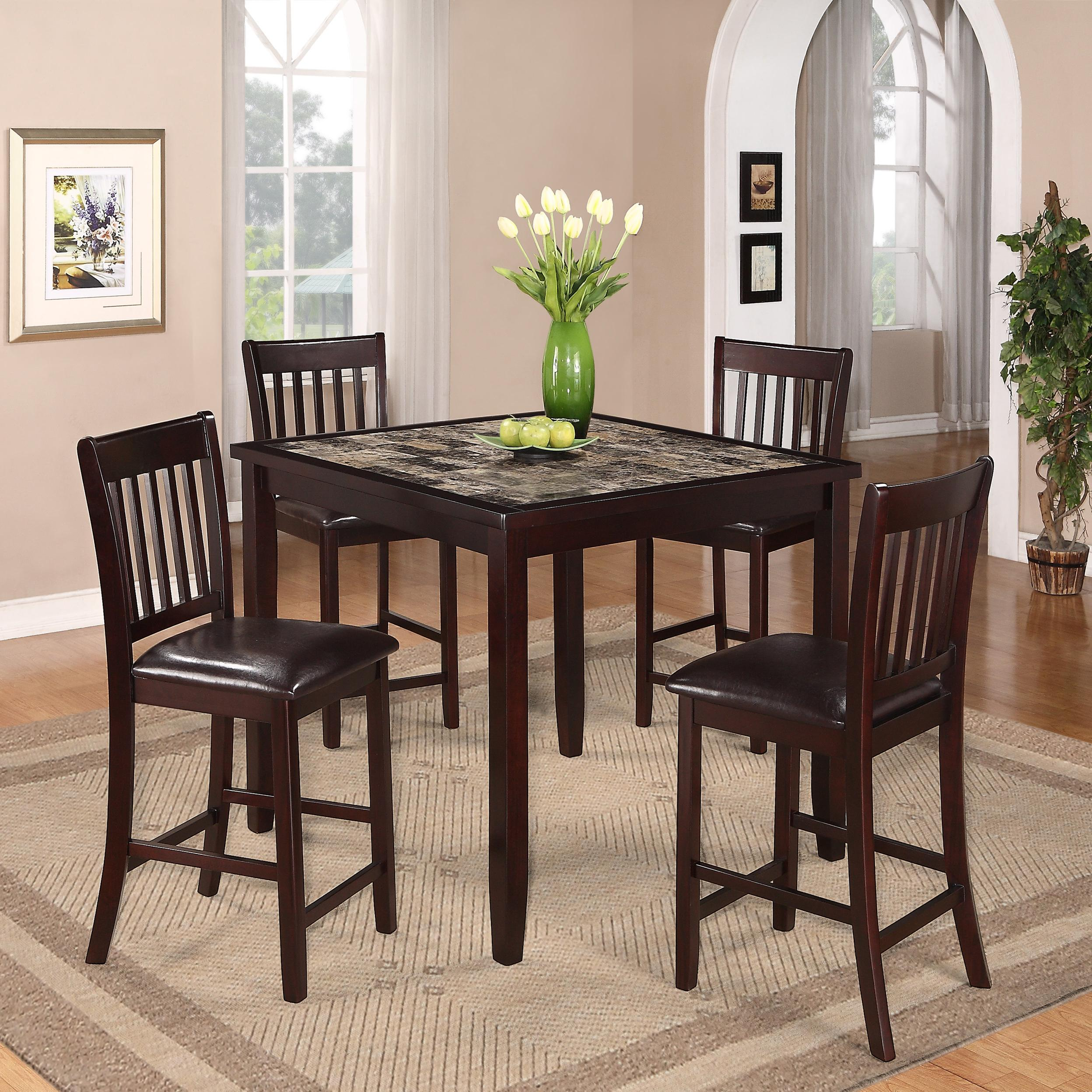 Cascade 5 Piece Counter Height Dinette by Crown Mark at Northeast Factory Direct