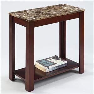 Rectangular Chairside Table with Faux Marble Top
