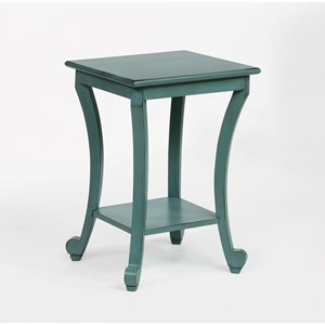 Chairside Table with Curved Legs