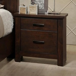 Rustic 2-Drawer Night Stand