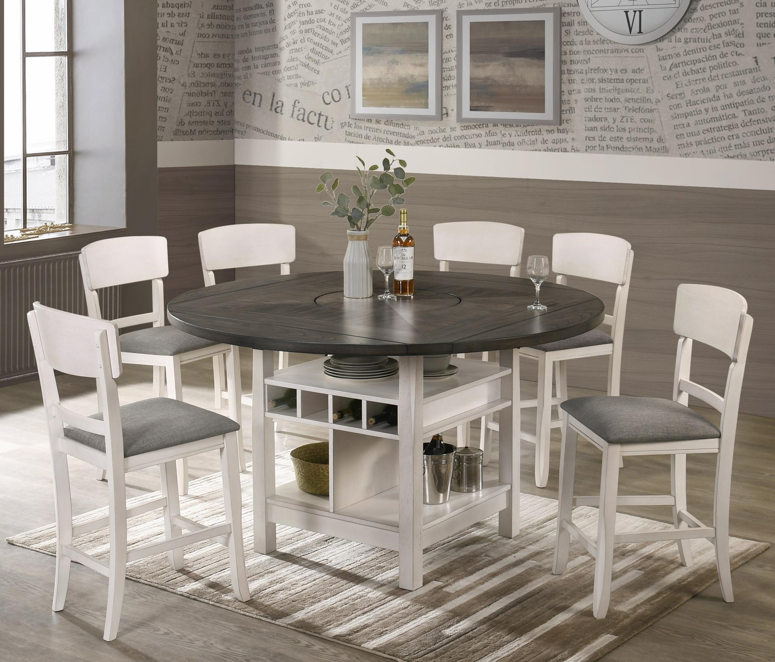 Conner 7 Piece Table and Chair Set by Crown Mark at Northeast Factory Direct