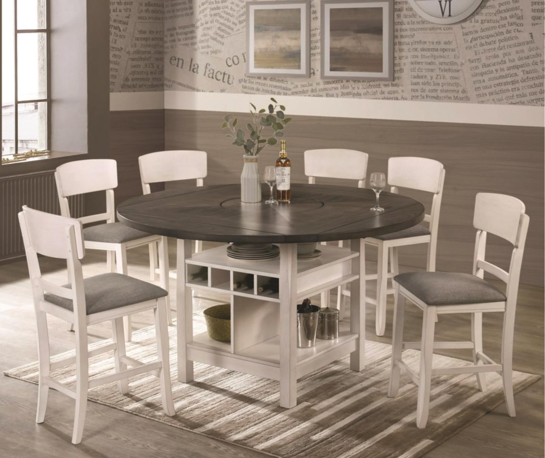 Conner 5 Piece Counter Height Dining Set by Crown Mark at Darvin Furniture
