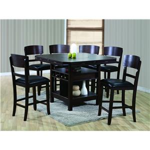 Contemporary 7 Piece Table and Chair Set