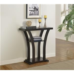 Sleek Black Console Table