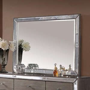 Dresser Mirror with Mirrored Glass Frame