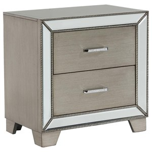 Glam Night Stand with Cord Management
